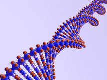 Dna. 3D model dna diagonal (see more in portfolio Royalty Free Stock Images