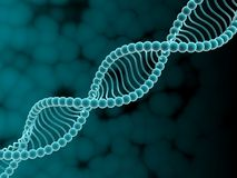 DNA. Digital illustration of dna structure in 3d on COLOR background Stock Images