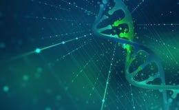 Έλικας DNA Γεια τεχνολογία τεχνολογίας στον τομέα της γενετικής εφαρμοσμένης μηχανικής απεικόνιση αποθεμάτων