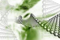 Dna. Digital illustration of DNA in color background vector illustration