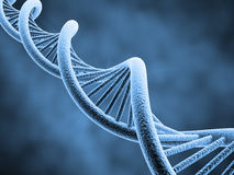 DNA. Strand - 3d rendered illustration Royalty Free Stock Photo
