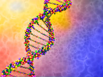 Dna. Digital illustration of a dna Royalty Free Stock Photo