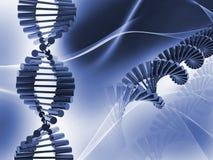 DNA. Digital illustration of dna structure in 3d on COLOR background royalty free illustration