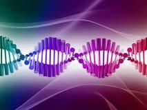 DNA. Digital illustration of dna structure in 3d on COLOR background stock illustration