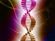 DNA. Digital illustration of dna structure in 3d on COLOR background vector illustration