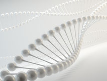 DNA. White DNA model - 3d render Royalty Free Stock Photos
