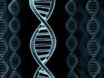 DNA. Spiral model, background (done in 3d Stock Images