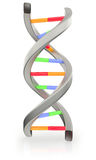 DNA. Digital illustration of DNA over white background Royalty Free Stock Images