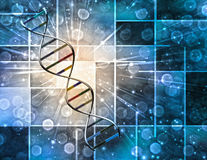 DNA. High Resolution DNA Strand and Background Stock Photo