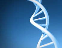 DNA. Helix on blue background Royalty Free Stock Images