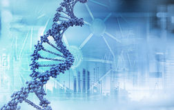 Dna. Abstract digital illustration of dna Stock Image