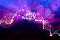 DNA. Digital illustration of  DNA in abstract background Royalty Free Stock Image