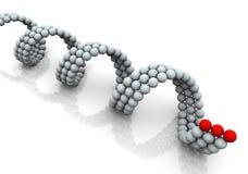 DNA 3d Fotos de archivo libres de regalías