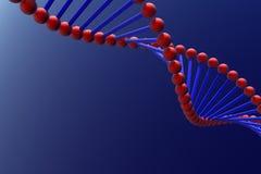 DNA. 3D render of DNA on blue Royalty Free Stock Images