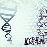 DNA. A grungy artistic illustration of a DNA double helix Stock Photo