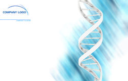 Dna. Abstract dna with blank area for your prints Royalty Free Stock Photo