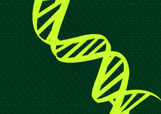 DNA. A abstract DNA green background Stock Image