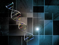 DNA Abstract. Over modern art theme Royalty Free Stock Photo