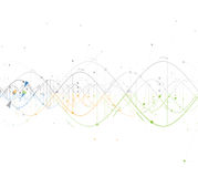 DNA Abstract background collection. Futuristic technology interf Royalty Free Stock Photos
