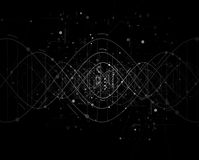 DNA Abstract background collection. Futuristic technology interf Stock Photos