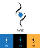 DNA Abstract icon and element collection. Futuristic technology Royalty Free Stock Photography