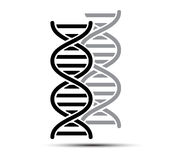 DNA Abstract icon and element collection. Futuristic technology Stock Photo
