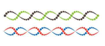 DNA Abstract icon and element collection. Futuristic technology Stock Photos