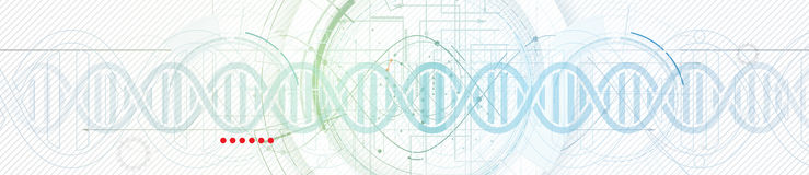 DNA Abstract icon and element collection. Futuristic technology Stock Images
