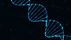 DNA. Abstract technology science concept, DNA code structure with glow. Science concept background. Nano technology stock photo