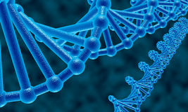 DNA abstrakta tło Zdjęcia Royalty Free