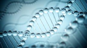 DNA-Achtergrond - 3D illustratie Stock Foto's