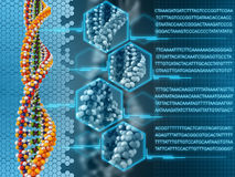 DNA-Analyseconcept Stock Afbeelding