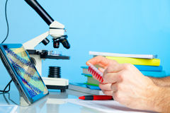 DNA analysis in the laboratory Stock Photo