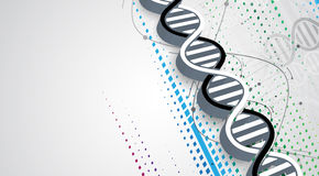 Dna And Medical And Technology Background. Futuristic Molecule Royalty Free Stock Photos