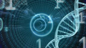 DNA animacja z binarnym kodem