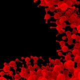DNA astratto rosso della molecola Fotografia Stock Libera da Diritti