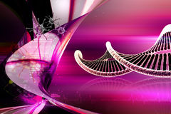 DNA. In attractive color background vector illustration