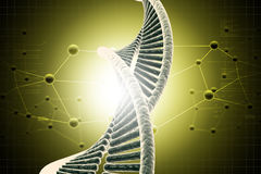 DNA. In attractive color background royalty free illustration