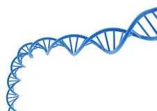 DNA azul Imagen de archivo libre de regalías