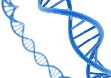 DNA azul Fotos de archivo libres de regalías