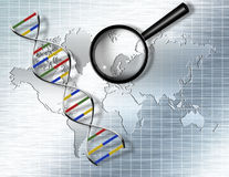 DNA Background Stock Photo