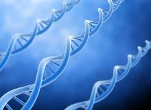 DNA background. Blue dna string 3d high resolution render vector illustration