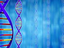 DNA Background. Concept of DNA Research Royalty Free Stock Photos