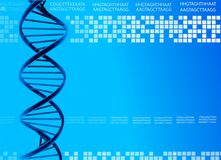 DNA background. Royalty Free Stock Image