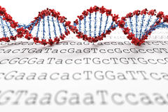 DNA background Stock Image