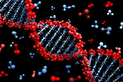 DNA background Royalty Free Stock Photos