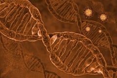 Dna background. 3D digital illustration dna background Vector Illustration