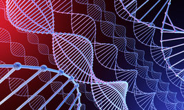 DNA background 3d Stock Photography
