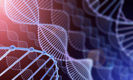 DNA background 3d Stock Images