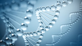 DNA Background - 3D illustration Royalty Free Stock Photography